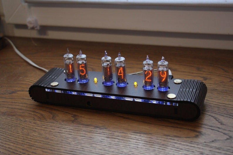 Nixie tube clock  include IN-16 tubes and handmade enclosure image 0