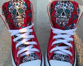 06738033bbf Sugar skull Converse Chuck Taylor Shoes