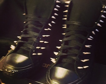 Spiked Converse Chuck Taylor Shoes