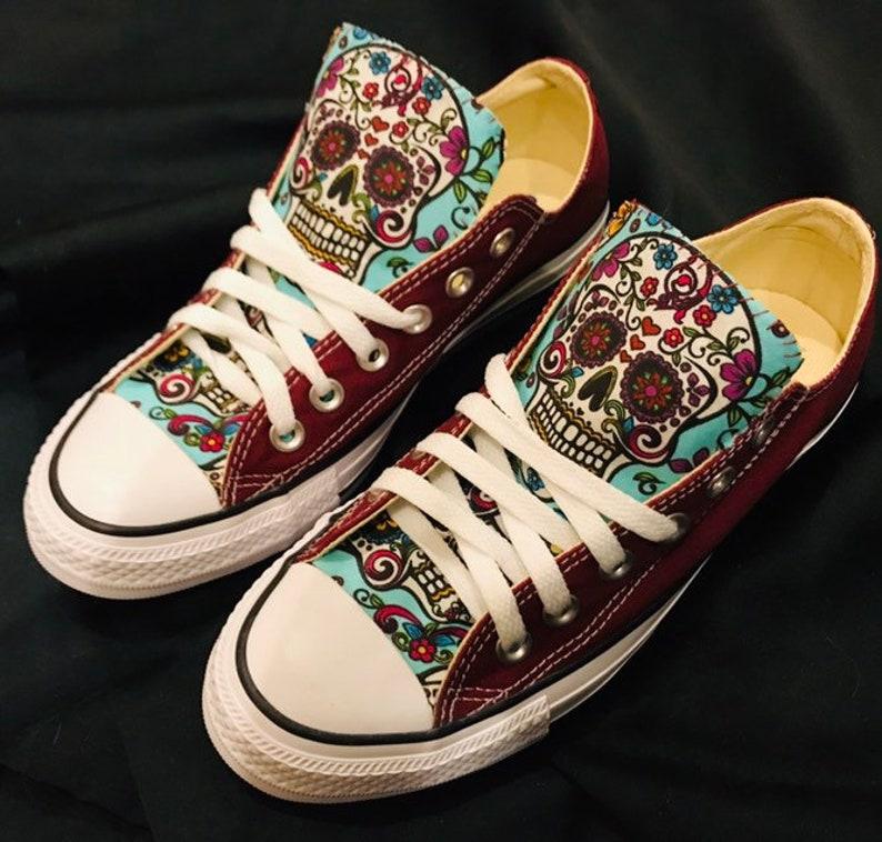 3abe159cb2c Sugar skull Converse Chuck Taylor Shoes