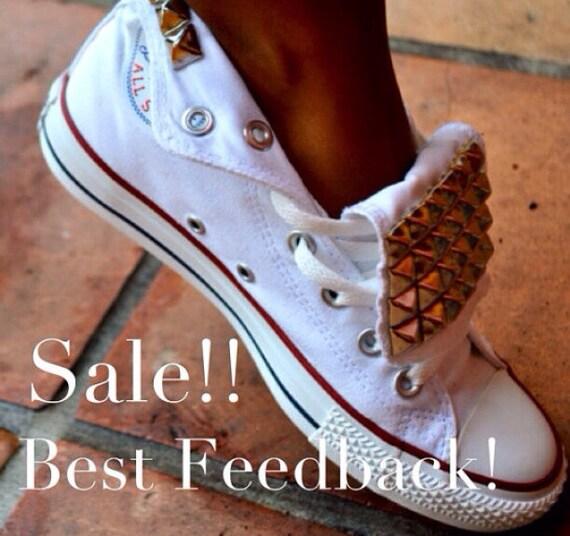 dbd3b6b2b7dd Studded Converse Chuck Taylor All Star Shoes Trainers