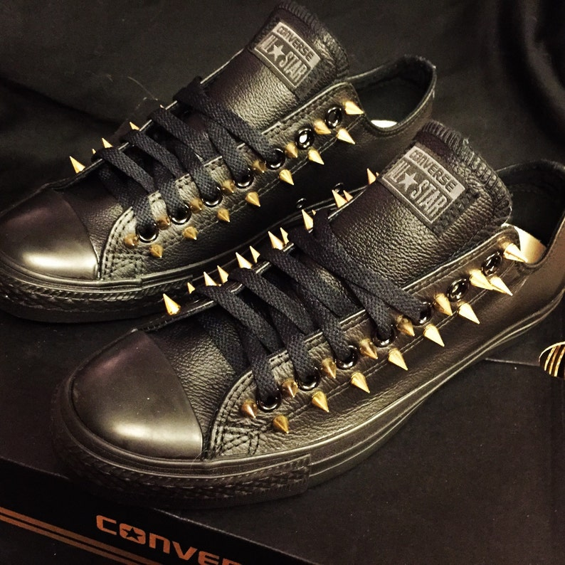3fe0bce857fc Leather Converse Spiked Shoes