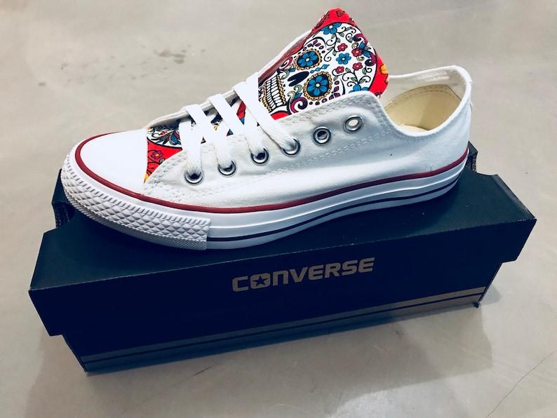38559e0f14255f Sugar skull Converse Chuck Taylor Shoes
