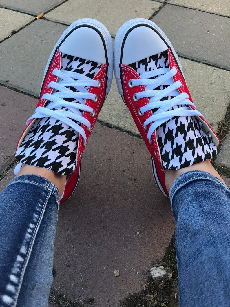 79fb8f9ce0e Houndstooth Converse Chuck Taylor Shoes