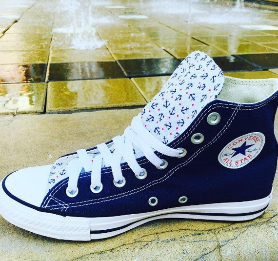 Converse Unisexe Chaussures Chaussures Etsy Ancres Converse Unisexe Ancres TEgqwgz