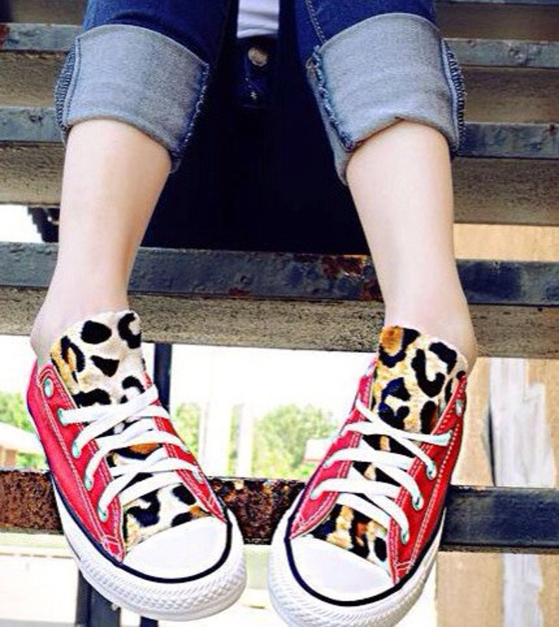 b9c3a3a80283 Converse Leopard Print Shoes Red
