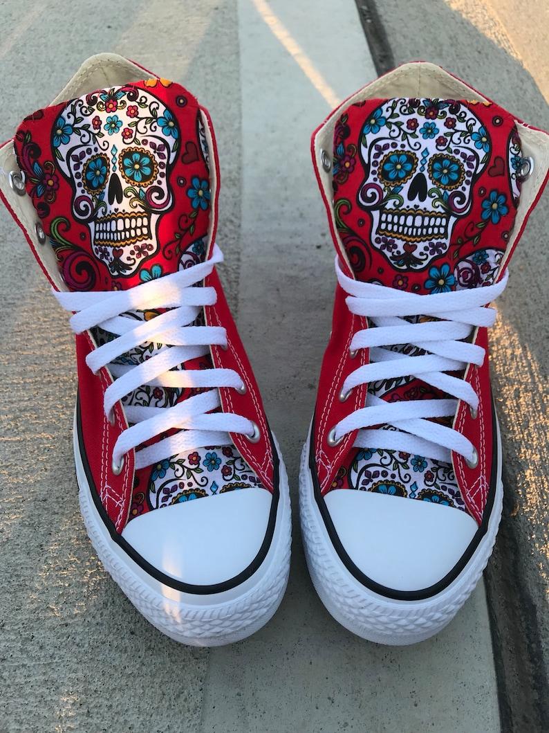 fff6319dca2cc3 Sugar skull Converse Chuck Taylor Shoes