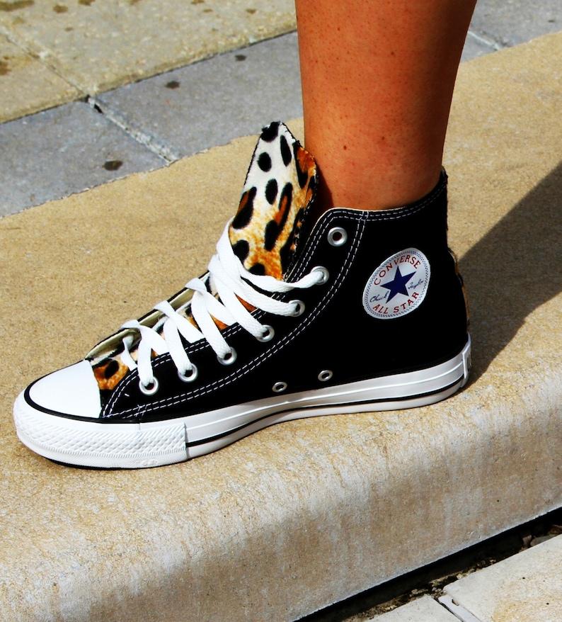 more photos 2556c 2cc4d Leopard Print Converse Chuck Taylor All Star Shoes   Etsy