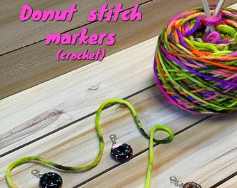 stitch markers, donut stitch markers, crochet stitch markers, ready to ship, gifts for crocheters, crochet supplies