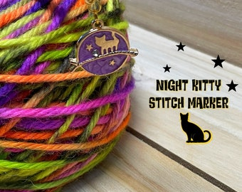 stitch marker, celestial themed stitch markers, knitting stitch makers, gifts for knitters, knitting supplies, kitty stitch markers