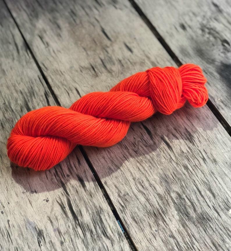 Semi solid orange yarn Sock yarn Solid orange yarn Yarn DK Yarn Sw merino yarn worsted yarn Fanta orange