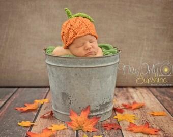 Lil' Pumpkin Newborn Hat