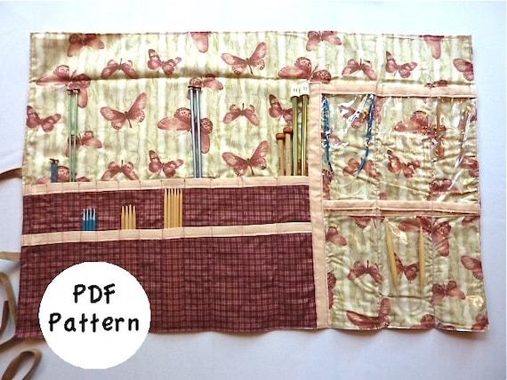 Knitting Needle Case Pattern Size Medium Pdf Download Etsy