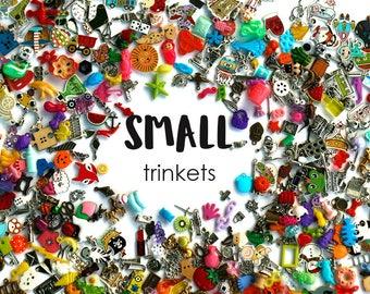 Small I Spy trinkets for I spy bag/ bottle, Children crafts, Language games, no doubles, 1-3cm, Set of 20/50/100/...500