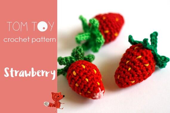 Strawberry Crochet Pattern Amigurumi Strawberry Crochet Etsy