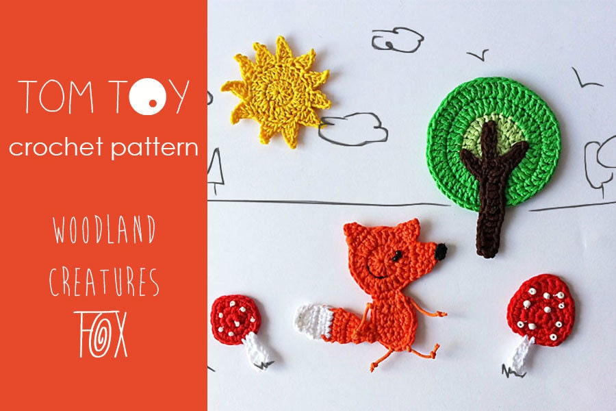 Fox set crochet pattern woodland creatures collection forest etsy