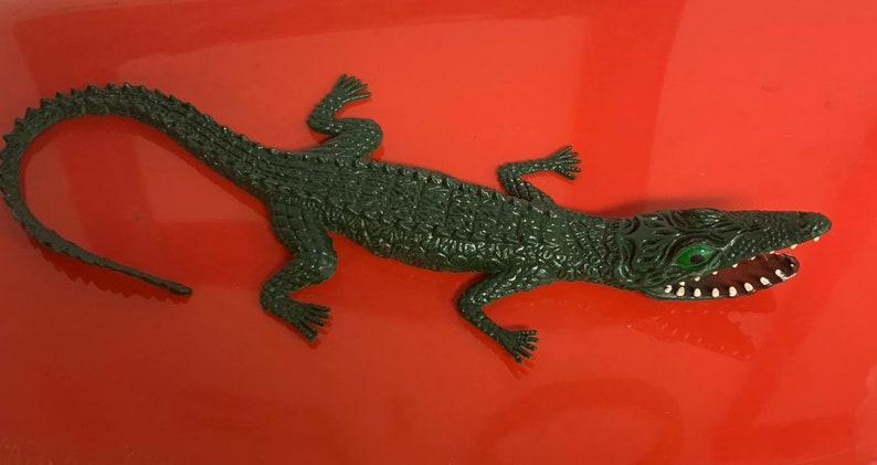Vintage Imperial Rubber Alligator image 0