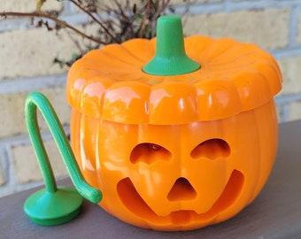 Vintage Plastic Halloween Jack O'Lantern Light