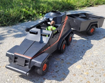 Vintage Galoob A-Team Armored Vehicle with Mr. T
