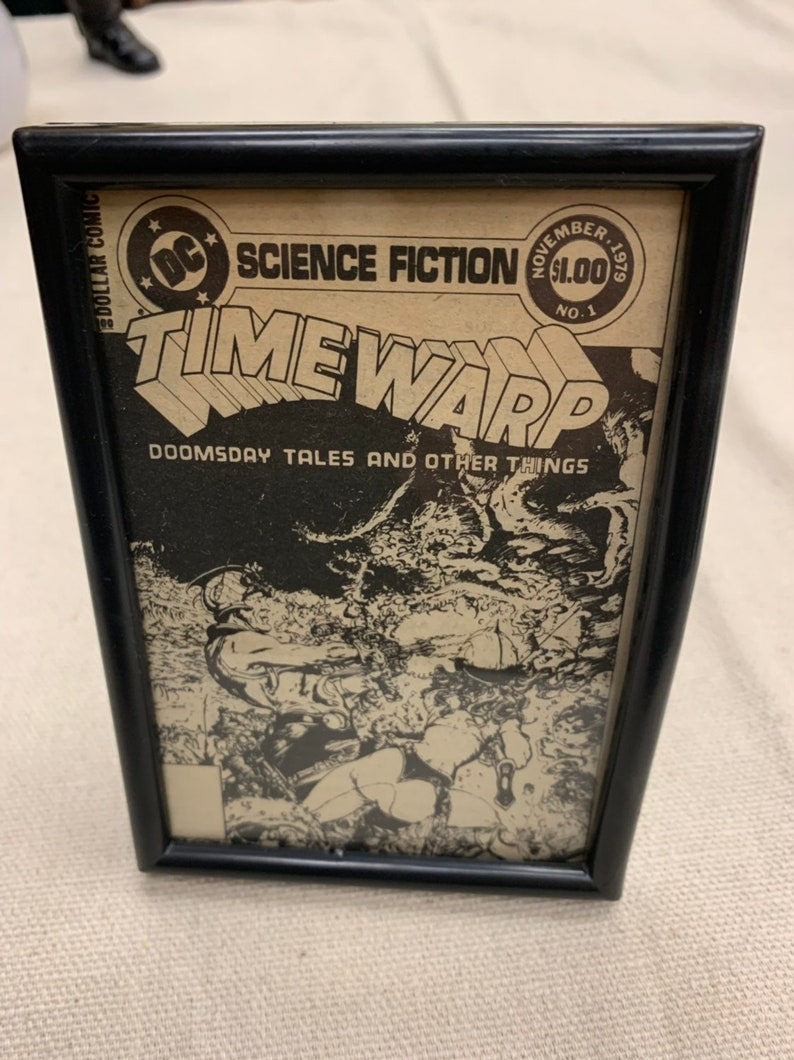 Framed Vintage Sci-fi Timewarp Comic Book Advertisement from image 0