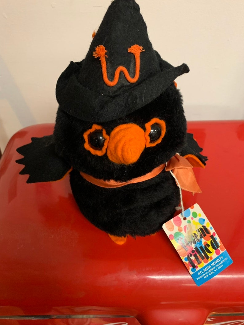 Vintage Foam Stuffed Owl Witch image 0