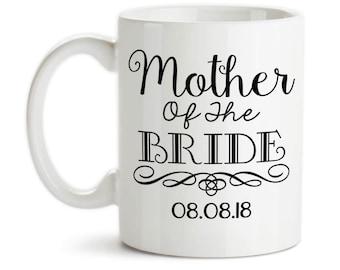 Coffee Mug, Mother Of The Bride 004 MOTB Gift Swirl Elegant Bridal Party Wedding, Gift Idea