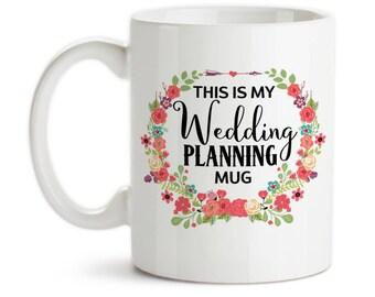 Coffee Mug, This Is My Wedding Planning Mug, Dream Wedding, Wedding Planner, Wedding Planning, Gift Idea, Large Coffee Cup