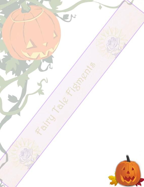 Jack o\' Lantern Stationery Pumpkin Stationery Halloween | Etsy