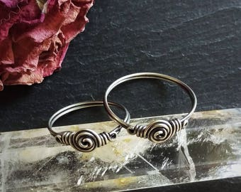 Viking ring, Norse Jewelry, copper ring, silver ring, Anglo Saxon, historical jewelry, pagan, wiccan, Asatru, handfasting rings, wedding