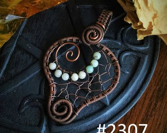 Clearance pendant, Sale, Faerie Web, copper pendant, faerie pendant, spider web pendant, faerie star, mermaid pendant, dream catcher
