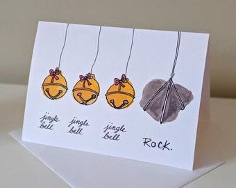 Jingle Bell Rock Funny Christmas Holiday Card