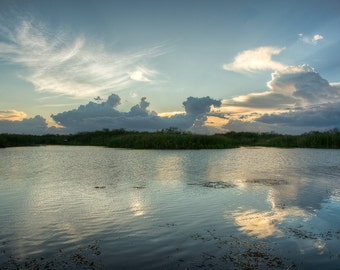 Feather - Fine Art Landscape Photography Print. Sunset over the Everglades in South Florida