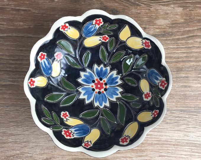 Featured listing image: Black Scalloped Bowl