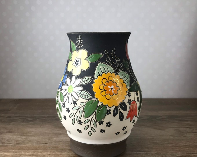 Featured listing image: Handmade Classic Flower Vase with Gold Luster