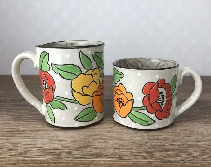 Featured listing image: Mug with Fashion Floral, Regular or Tall