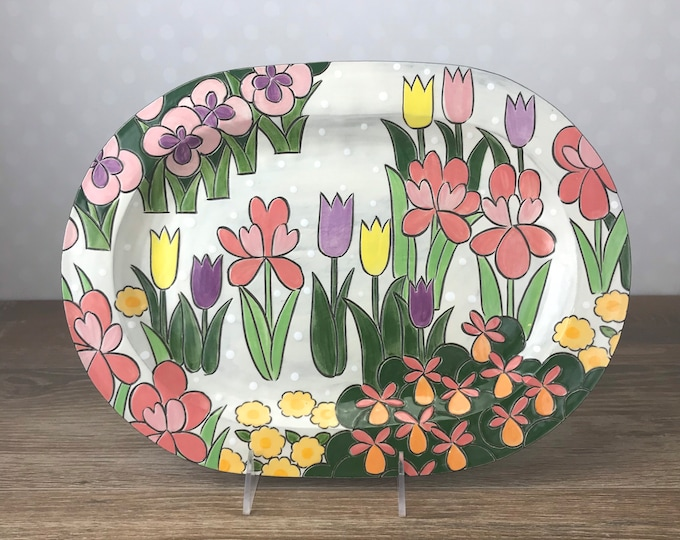 Featured listing image: Serving Platter with Spring Garden