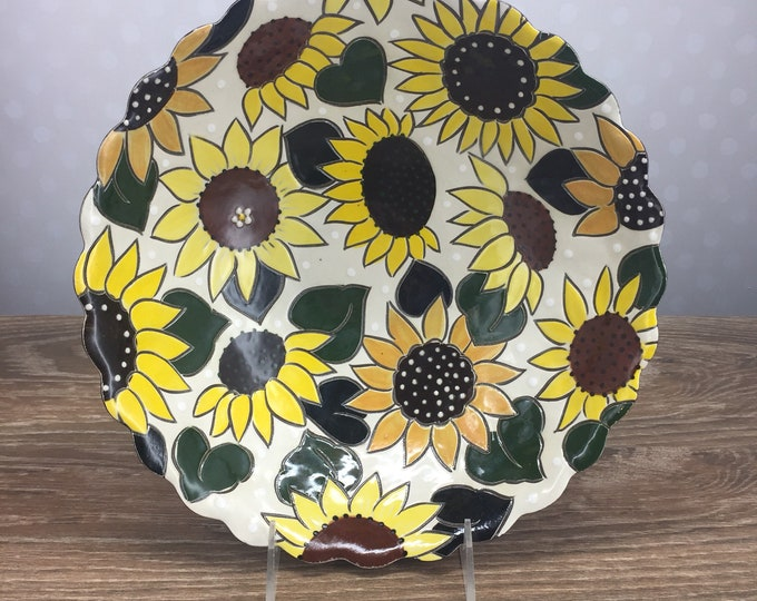 Featured listing image: Bubble Serving Bowl with Sunflowers