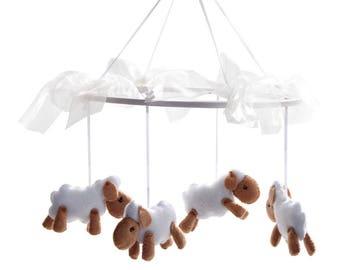 Sheep Nursery Mobile - Lamb Nursery Mobile