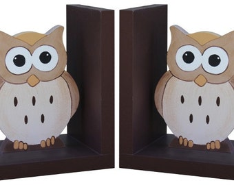 More Colors. Wooden Owl Bookends ...