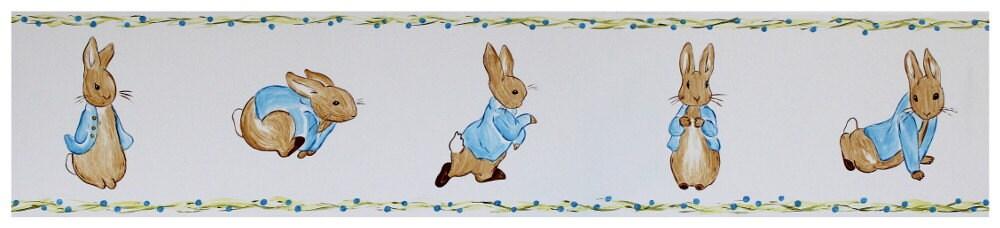 Peter rabbit wall border vinyl peel and stick wall border - Peter rabbit nursery border ...