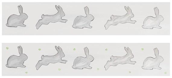 Rabbit Wall Border Vinyl Peel And Stick Rabbit Wall Border