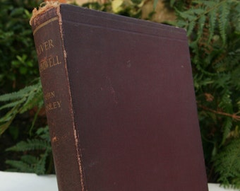 Oliver Cromwell 1900 English Histories Large Antique Vintage book Classic Hardcover Book