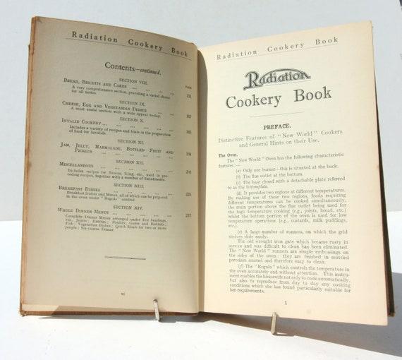 Antike Strahlung Kochbuch 1934 Antike Kochbuch Buch Vintage Rezepte Essen Buch Rezepte Geschenk