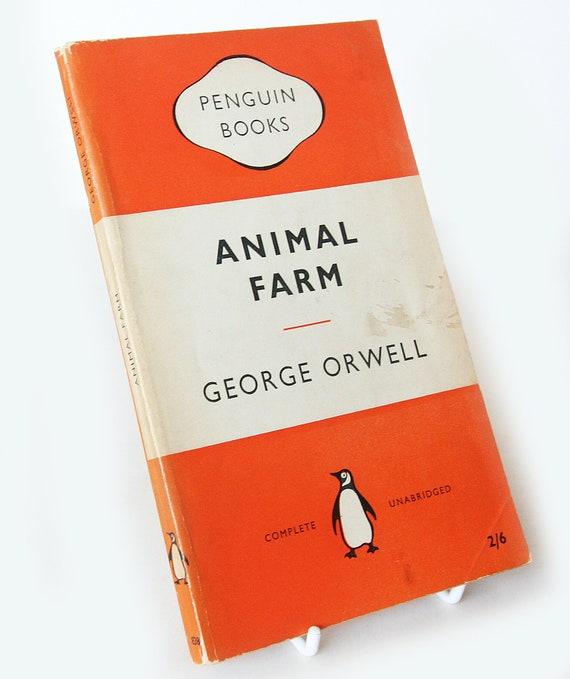 Animal Farm George Orwell Penguin Paperback Book 1955 Classic Etsy
