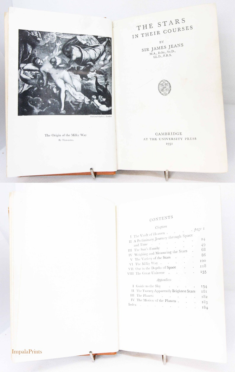 Astronomy Book 1931 Hardback gift Science Book Star Guide image 0