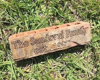 Custom Personalized Engraved Brick