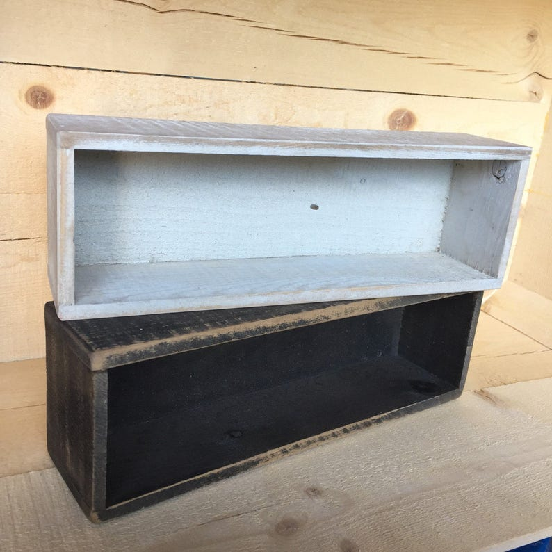 Distressed ShipLap Wooden Box collect all toilet box home image 0