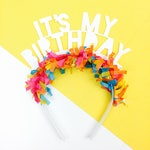 Birthday Headband Party Favors | It's My Birthday | Party Hat | Party Crown