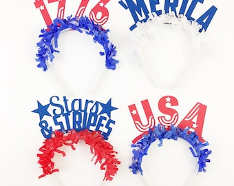 Fourth of July | 4th of July | Party Hat | Party Headband | Party Crown | Photo Booth Prop