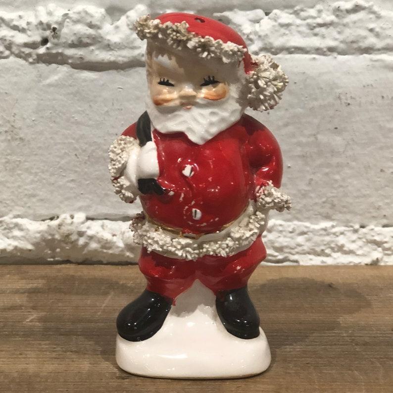 Vintage Napco SantaMrs Claus Shakers
